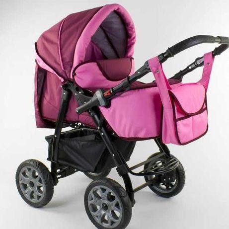 Продам коляску-трансформер Victoria Gold Карина бордо-розовая
