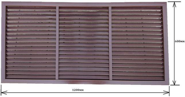 Решітка вентиляційна ВЕНТС НГН 1200*600мм (коричнева)