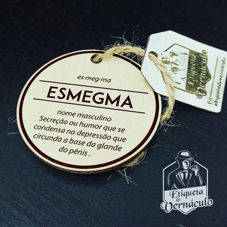 porta chaves etiqueta vernáculo esmegma