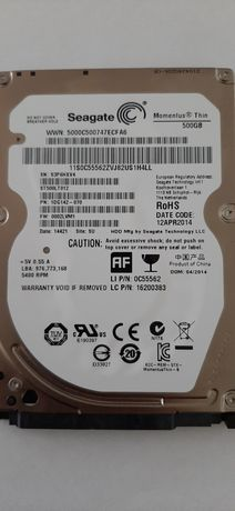 Жесткий диск б/у 500GB Seagate для ноутбука или внешнего кармана