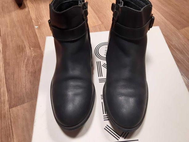 Кожаные ботинки р-р36-37