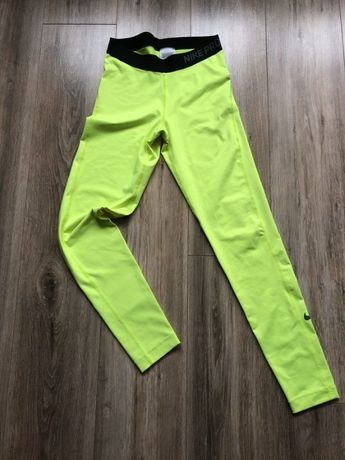 Leginsy, Nike pro, Nike, neon