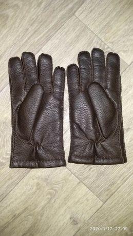 Теплые перчатки мужские на 22-23 см объем Замеры на фото Состояние иде