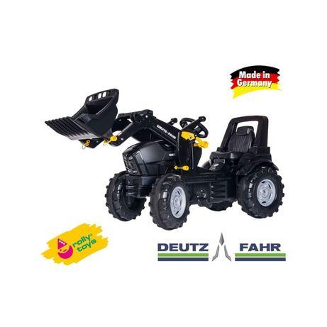 Czarny traktorek Traktor na PEDAŁY DEUTZ FAHR Łyżka 3-8L