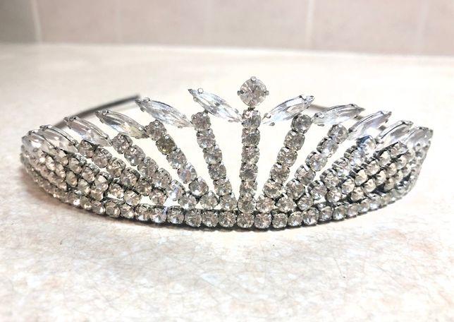 Свадебная диадема/корона стразы