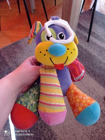 Zabawka Lamaze piesek śliczny kolorowy z zawieszka