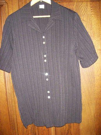 Elegancka czarna bluzka z krótkim rękawem 44