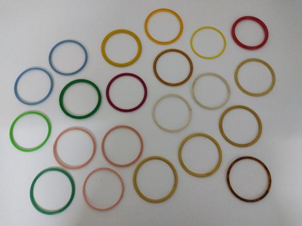 Pulseiras plástico vintage várias cores