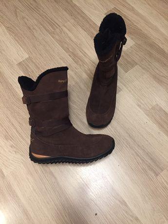 Сапоги ботинки замшевые утепленные Kangaroos 39 размер