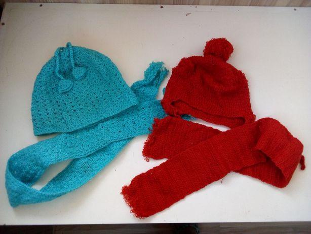 Шапка и шарфик на ребёнка