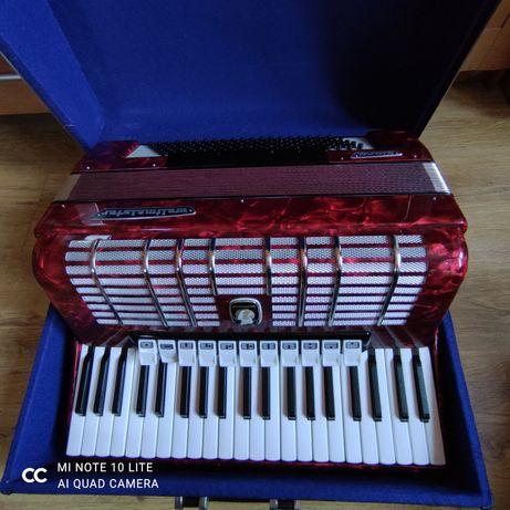 Weltmeister Diana 120, akordeon klawiszowy guzikowy wiśnia