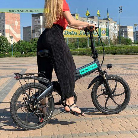 """СКЛАДНОЙ электро-велосипед 20""""колёса 40 км пробег на 1 заряде ДОСТАВКА"""