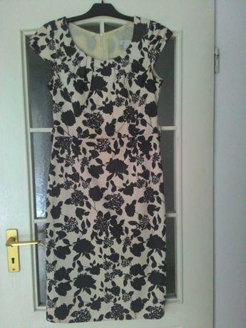 Piękna sukienka w kwiaty r. 38, wesele, przyjecia, na codzień