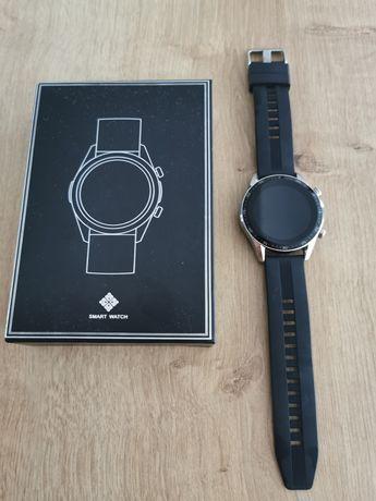 Smartwatch czarny na gumowym pasku