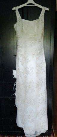 Suknia ślubna ecru + bolerko