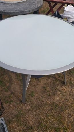 Stół szkło z aluminium