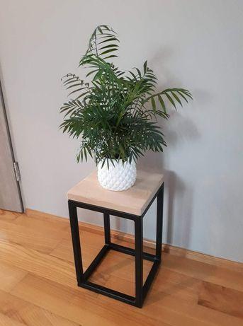 Kwietnik nowoczesny 3szt Loft żelazny drewniana deska