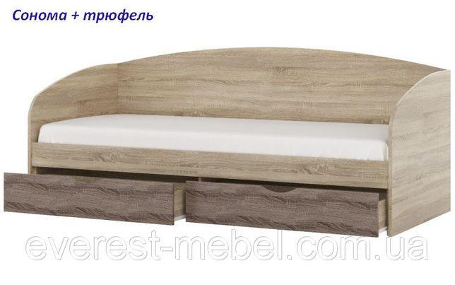 Односпальная кровать для ребенка с ящиками Комфорт