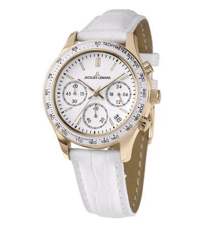 Женские Швейцарские часы JACQUES LEMANS 1-1587ZC