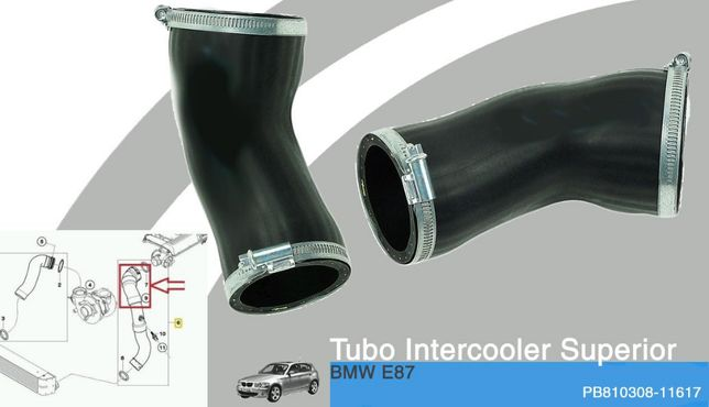 Tubo Intercooler Superior NOVO p/BMW 118d,120d E87