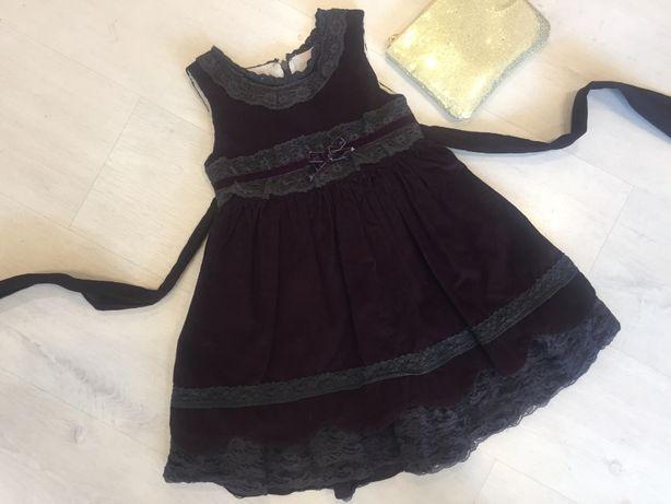 Нарядное красивое платье (сарафан) на 2-3-4 г. плотное пышное вельвет