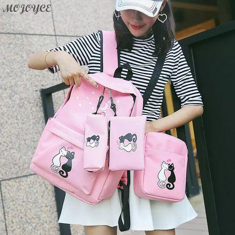 Стильный Розовый Рюкзак для девочки + подарок!