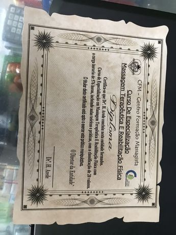 Criação de diplomas / certificados