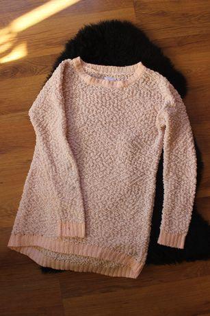Swetr sinsay M różowy miękki