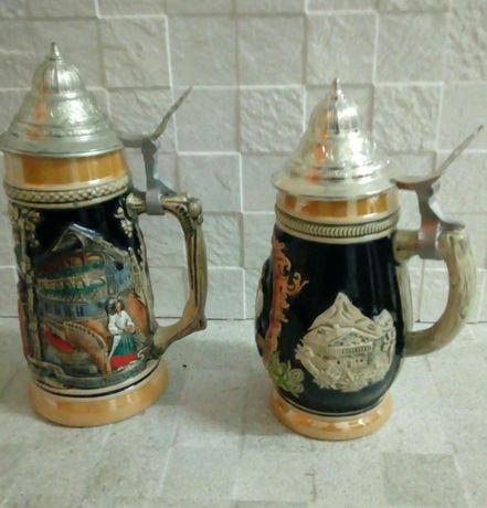 Par de canecas de cerveja alemãs