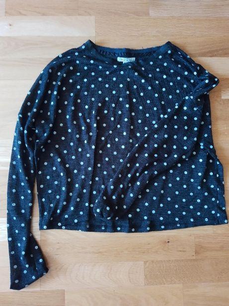 Zara dlugi rekaw oversize kropki groszki zwiewna lato M bluzka koszulk