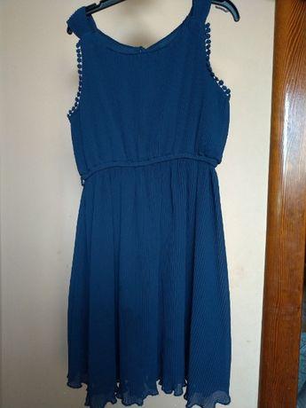 sukienka dziewczęca granatowa zara