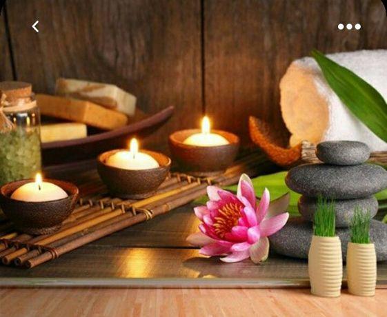 Massagens de  relaxamento total.