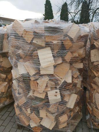 Drewno opałowe liściaste buk dąb olcha klon klocki mix opał paleta