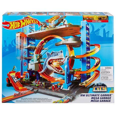 Трек Hot Wheels Shark гараж Акула Паркинг Мега Гараж FTB69