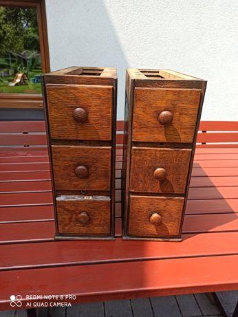 Antyk stare szuflady z maszyny do szycia Singer