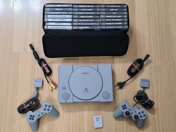 Konsola PlayStation 1 idealna z 2 padami i kolekcją gier (Psx, Ps1)