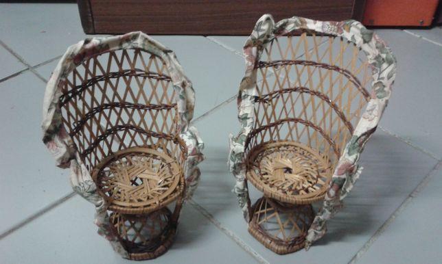 Cadeira decorativa palhinha verga