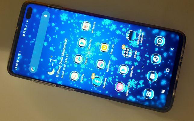 Samsung Galaxy S10 plus, czarny + Etuji