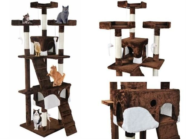Nowy Drapak dla kota drzewko legowisko Domek 170cm Nowe inne wzory DPD