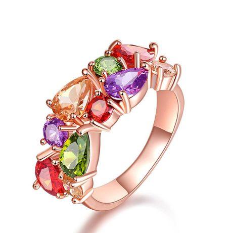 Hypoalergiczny kolorowy pierścionek 18 NOWY