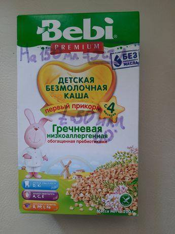 Детская каша Bebi Premium безмолочная гречневая