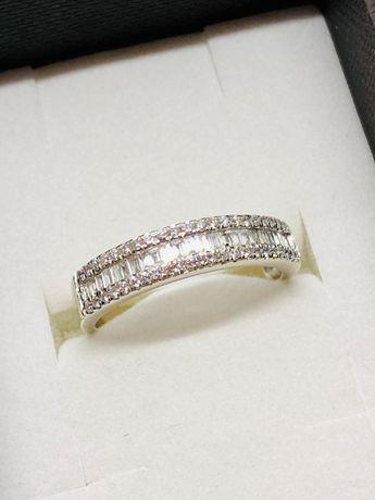 PIERŚCIONEK z białego złota z diamentami 67 SZTUK / 585 14K / w:3,15gr