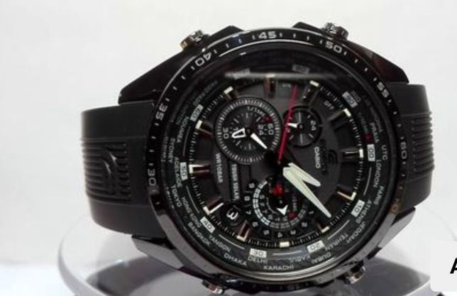 "Casio Edifice ""Black Mate"" Man"