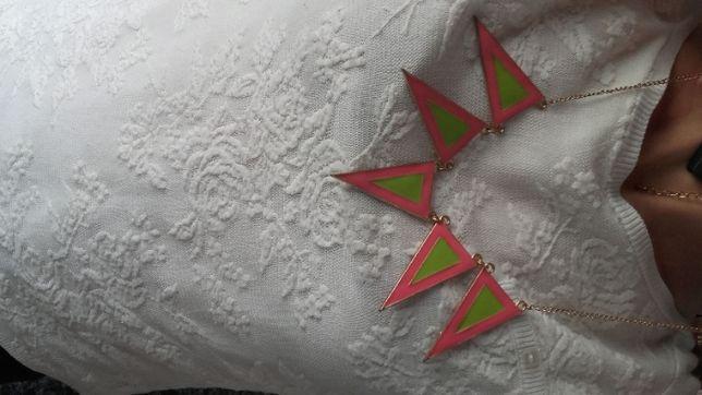 Colar Verde e Rosa