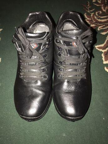 Кожаные зимние ботинки мужские подростковые Stefano Aero