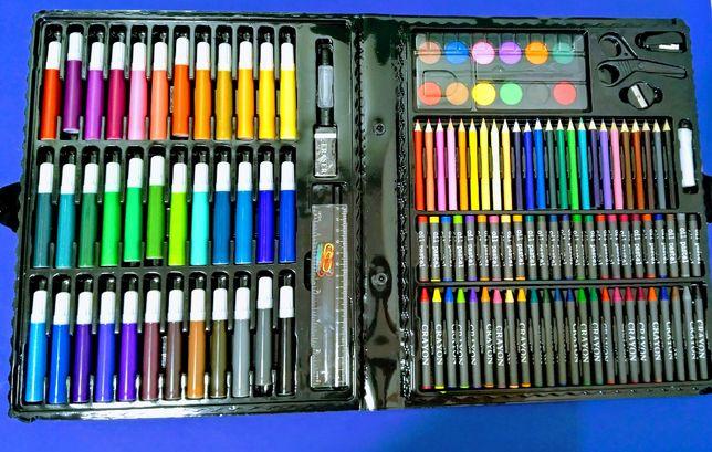 Набір для малювання на 150 предметів фарби, фломастери, олівці