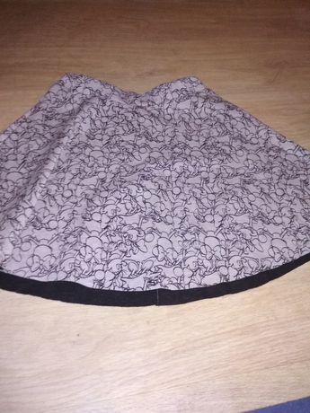 Szara rozkloszowana spódnica z myszami minnie vintage house