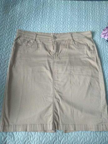 Spódnica rozmiar 48-50 (4-5XL) w kolorze jasnym brązowym