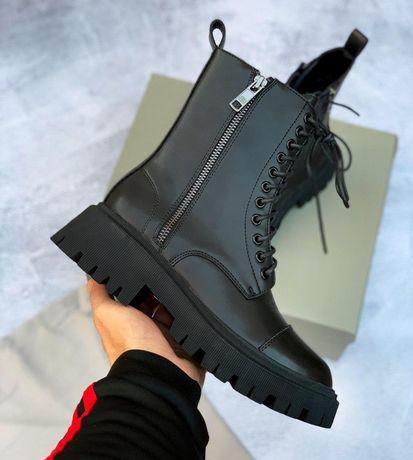 BALENCIAGA 35 36 37 38 39 40р ботинки баленсиага кожаные женские  деми