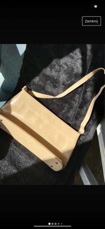 Torebka torba marconi na ramię beżowa piaskowa kremowa brązowa jasna v